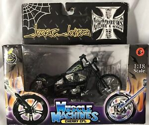 Muscle Machines Jesse James Cherry CFL (In Matte Black) 1:18 Scale Die Cast -NEW