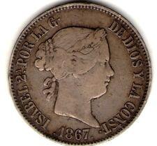 ESPAÑA SPAIN COIN MADRID 1 ESCUDO 1867 *6 POINTS VF