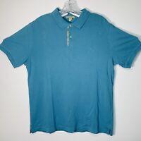 Burberry Brit Men's Polo Shirt Short Sleeve Nova Check Light Blue Size Large