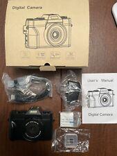 Digital Vlogging Camera YouTube Vlog Camera HD 1080P 30FPS 24MP Camcorder