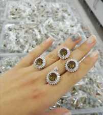 Turkish Handmade Sterling 925 Silver Jewelry Alexandrite Stone Lady Set