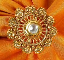742 Indian Ethnic Traditional 18k Gold Tone Adjustable Ring Bollywood Jewellery