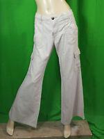 LOIS Taille 42 W 33 superbe pantalon écru blanc cassé beige coton lin trousers p