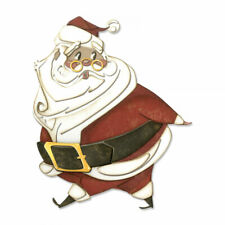 Tim Holtz Sizzix Thinlits Die ~ JOLLY ST. NICK ~ Alterations 664198