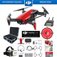 DJI Mavic Air Flame Red Drone Pro Photo Edit Case VR Goggles Landing Pad 32GB