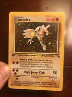 Hitmonlee 1st Edition Fossil Holo Foil 7/62 Pokemon Card