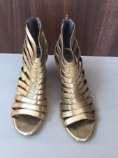Dorothy Perkins Gold Shoes. Size 5