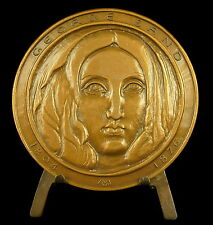 Médaille George Sand Amantine Aurore Lucile Dupin, baronne Dudevant Nohant Medal