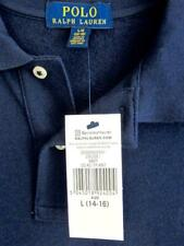 New Polo RALPH LAUREN Age 14-16/Large Navy Blue Cruise T-Shirt Buttoned TOP*£55*