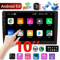 2 DIN 10'' Android 9.0 Car Stereo GPS Navi MP5 Player Bluetooth USB WiFi Radio