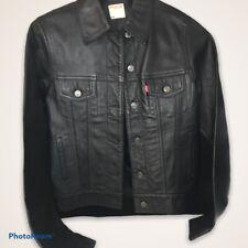 Vintage Leather Levi Jacket Trucker  Coat Blazer NWT