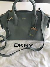 Used Grey DKNY Leather Satchel Bag