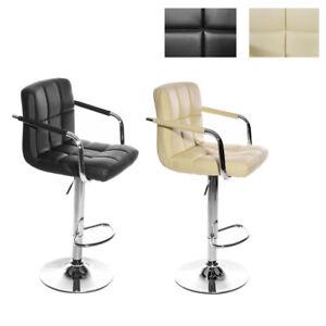 1/2 Bar Stool Faux Leather Kitchen Pub Stools Swivel Breakfast Bar Chairs UK