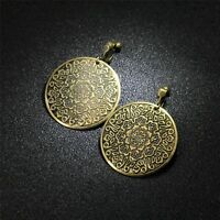 Earrings Clips Round Golden Retro Antique Style Classic Evening E4