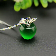 Fashion 925 Silver Plated Apple Pendant Necklace Choker Chain Women Jewelry Gift