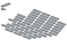 Used LEGO® - Plates - Lightbluishgray - 3710-10 - 1x4 (50Stk) - Platte - Hellgra