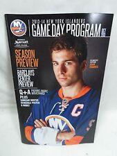 2013-14 New York Islanders Mini Game Day Program John TAVARES on Cover