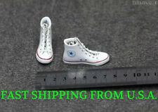 1/6 Converse All Star Sneakers Shoes WHITE For Hot Toys Phicen Female Figure