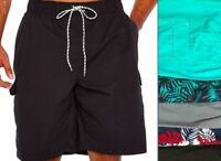 NWT Mens Swim Cargo Shorts 1XL 2XL 3XL 4XL 5XL Foundry Big & Tall Colors JC059