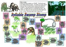 SYLLABLE STOMP GAME  teacher educational resource