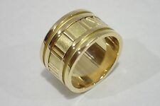 TIFFANY & CO. 18k yellow gold ATLAS wide band ring