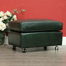 Vintage David Jones Exclusive Moran Leather Footstool Ottoman Foot Rest Seat