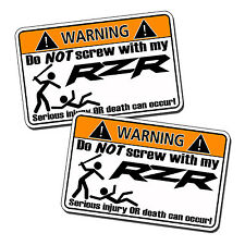 Off Road RZR Decal Polaris 900XP 900 XP Sticker Graphic Warning 800 1000 UTV SxS
