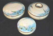 Antique Bohemian hand painted porcelain dresser set Count Thun Austria REDUCED
