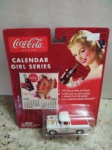 Johnny Lightning Coca-Cola Calendar Girl Series #9 '55 Chevy Cameo Pickup NEW