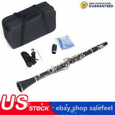 Professional 17key Hard Bakelite Clarinet Flat B Manual Cloth Screwdriver