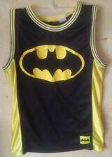 Men's DC Comics Batman Jersey Small Batman 1 Black Yellow Basketball