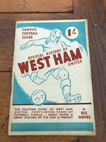 official history of west ham united . by reg groves 1947
