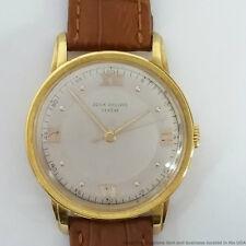 Rare Huge Vintage Patek Philippe 18k Gold Mens 37mm Wristwatch Ref 2481