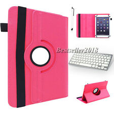 "For 10""-10.1"" Tablet Wireless Bluetooth Keyboard +360 Rotate Leather Case Cover"