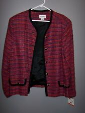 CLEARANCE NEW W/TAGS Exquisite Red & Multi Color Blazer