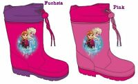 New girls licensed Disney Frozen wellies wellington boots rain boots pink nwt