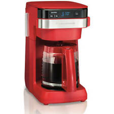 Hamilton Beach 46301  12 Cup Programmable Coffee Maker Red Home Office Kitchen