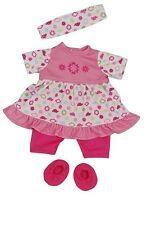 Schildkröt doll dresses for a 32cm baby doll summer-set pink