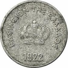 [#672945] Coin, Greece, George II, 10 Lepta, 1922, VF(30-35), Aluminum, KM:66.1