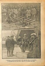 Machine Gun Mitrailleuse Bois Belleau Feldgrau Tommies War WWI 1918 ILLUSTRATION