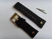 DIESEL Original Ersatzband Lederarmband DZ7371 Uhrband schwarz 28 mm watch strap