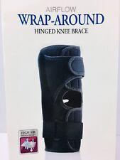 FLA Orthopedics Pro Lite Wrap Around Hinged Knee Brace Black Medium NIB 75689-27