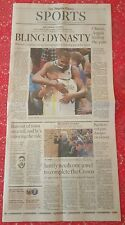 Los AngelesTimes Sports Section Golden State Warriors NBA Champions Kevin Durant