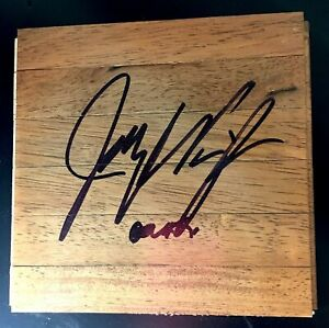 Jay Wright Signed 6x6 Floorboard Parquet Villanova Wildcats Auto Autograph