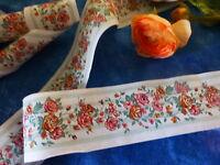 loisirs créatifs  mercerie =3m5x 7cm joli galon  coton    les roses anciennes