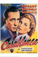 Casablanca (1942) limited edition belgium movie poster repro - s-sided - rolled