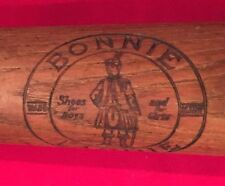Antique Circa 1930's Bonnie Laddie Shoes Advertising Baseball Bat Early Vintage