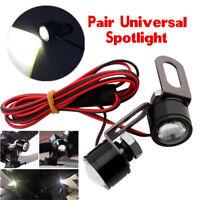 2Pcs White LED Motorcycle Handlebar Spotlight Headlight Driving Light Fog Lamp