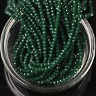 500pcs 3x2mm Rondelle Faceted Crystal Glass Loose Beads Opaque Deep Green