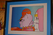 PETER MAX ORIGINAL HAND SIGNED CUSTOM FRAMED AND MATTED TITLE-TALKING TO KAREN